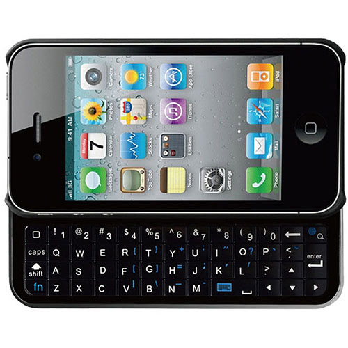 CP Technologies Ultra-Thin Slide-Out Keyboard Case for iPhone 4/4S, Black