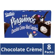 Marinela Pinginos Chocolate Crme Filled Cupcakes with Chocolate Coating, Artificially Flavored, 8 Count Box
