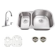 Schon SC1165710N Double Basin Undermount Kitchen Sink Set