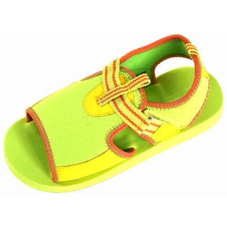 L'Amour Child Size 12 Lightweight EVA Foam Beach Shoes w/Adjustable Velcro - Childs Velcro