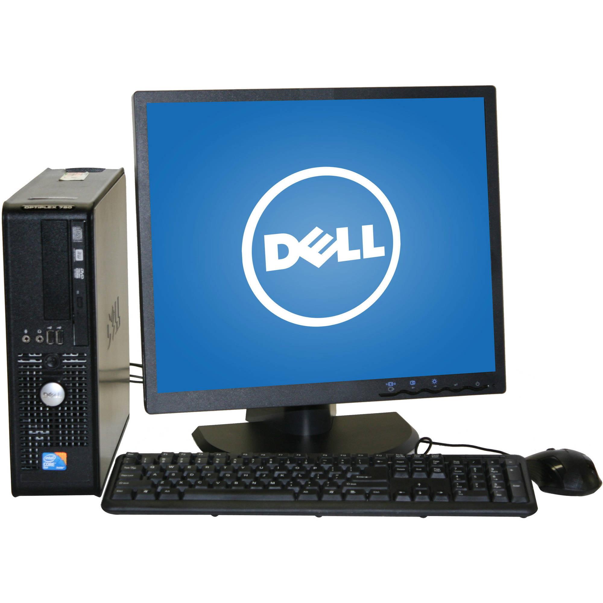 "Refurbished Dell 780 Desktop PC with Intel Core 2 Duo Processor, 8GB Memory, 19"" Monitor, 1TB Hard Drive and Windows 10 Pro"