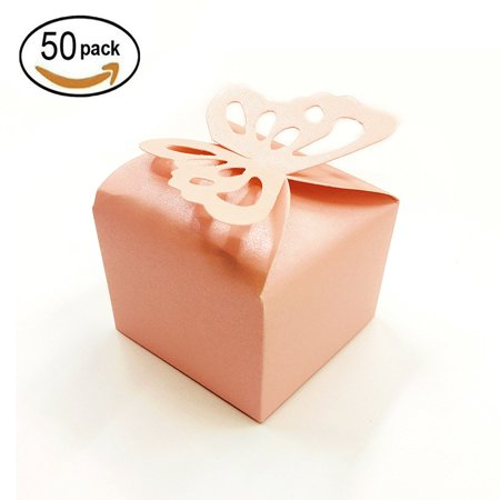 Pink Cube Candy Treat Bo Set Erfly Gift Box Bulk Wedding Party Favors Mother S Day Baby