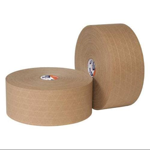 SHURTAPE WP 100 Water-Activated Packaging Tape, Brown, PK8