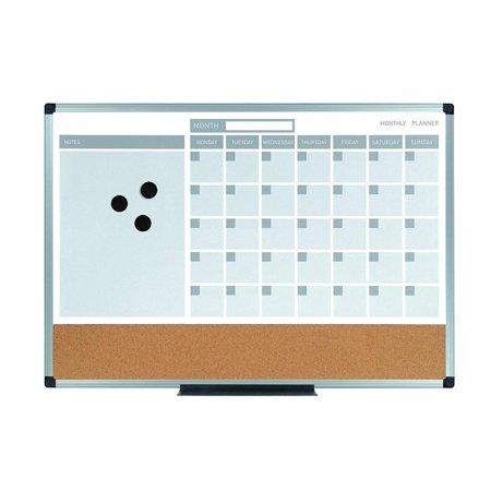 MB3507186 Planning Board 3-In-1 Calendar Dry Erase, 18