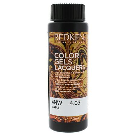 Redken Color Gels Lacquers Haircolor 4NW - Maple - 2 oz Hair (Best Salon Hair Dye Brand)