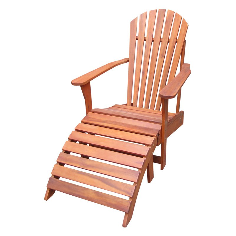International Concepts Adirondack Chair with Footrest