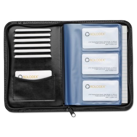 Rolodex faux leather business card book with zipper holds 120 2 1 rolodex faux leather business card book with zipper holds 120 2 14 x 4 reheart Image collections