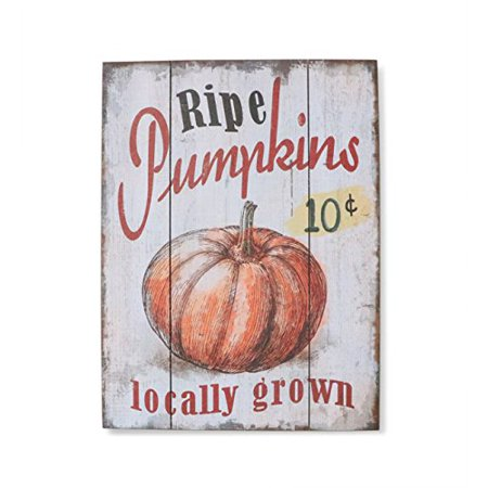 "Barnyard Designs 10 Cent Ripe Pumpkins Locally Grown Retro Vintage Wood Plaque Bar Sign Country Home Decor 15.75"" x 11.75"""