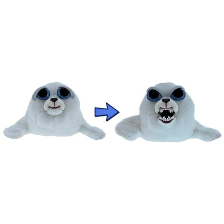 William Mark  Feisty Pets  Tony Tubbalard  Adorable 12  Plush Stuffed Harp Seal Pup That Turns Feisty With A Squeeze