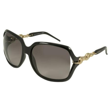 Gucci Women's 3584/S 3584S REW/EU Black/Gold Fashion Butterfly Sunglasses 59mm