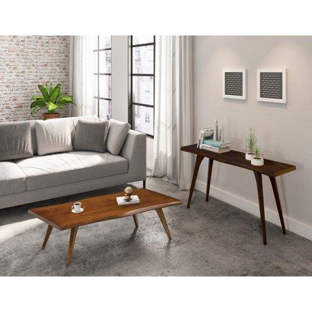 Saloom Furniture Company Martin Wave Edge Maple Wood Finish Console