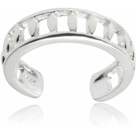 Brinley Co. Women's Sterling Silver Adjustable Fashion Toe Ring