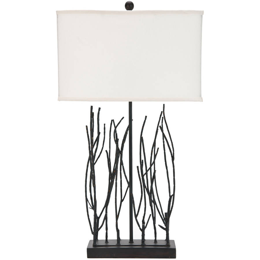 Safavieh Grayson Twig Lamp with CFL Bulb, with Off-White Shade