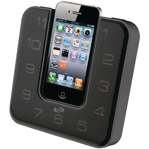 iLive iCP391B iPhone and iPod Clock Radio