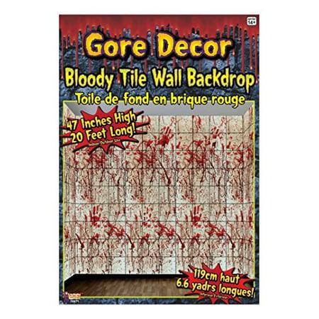 Forum Novelties Gore Decor Bloody Tile Wall Backdrop, Multicolored](Blood Gore)