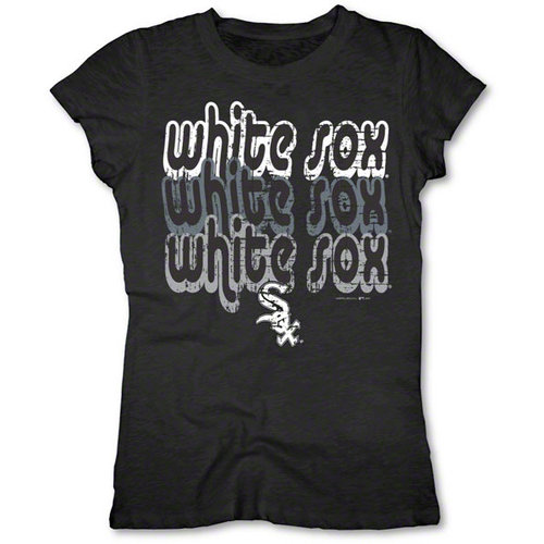 MLB - Chicago White Sox Black Girls Crewneck T-Shirt