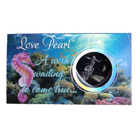Love Pearl SEA LIFE Necklace Kit, Simulated Pearl in an Oyster - SEAHORSE - Seahorse Craft