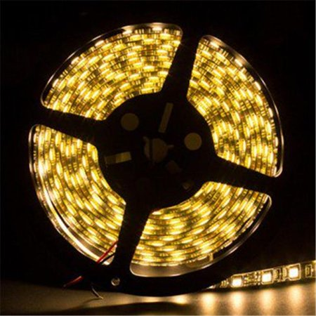 5 Metre Warm White Waterproof 3528 LED Light Strip Black - Black And White Strips