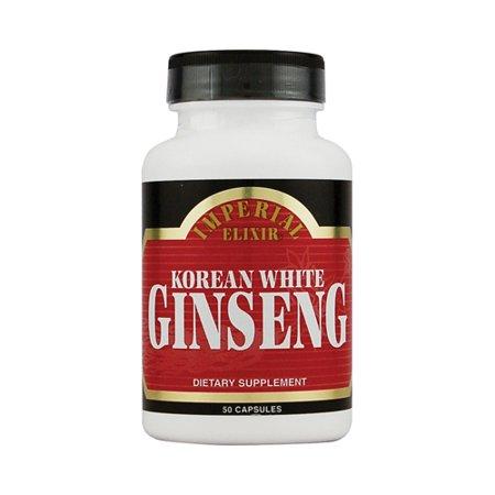 Imperial Elixir blanc coréen Ginseng - 500 mg - 50 Capsules