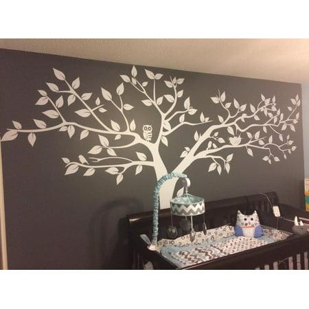 Popeven Super Big Tree White-133inch W - Beautiful Tree Wall Decals for  Kids Rooms Teen Girls Boys Wallpaper Murals Sticker Wall Stickers Nursery  ...