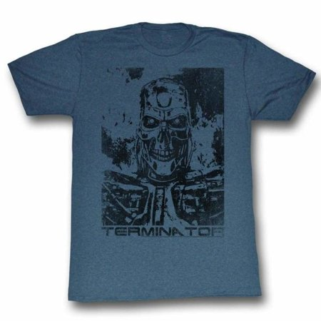 Terminator Movies Black And Blue Adult Short Sleeve T Shirt (Terminator Costumes For Adults)