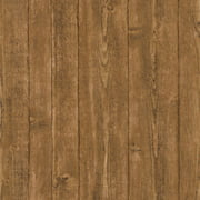 Brewster Orchard Brown Wood Panel Wallpaper