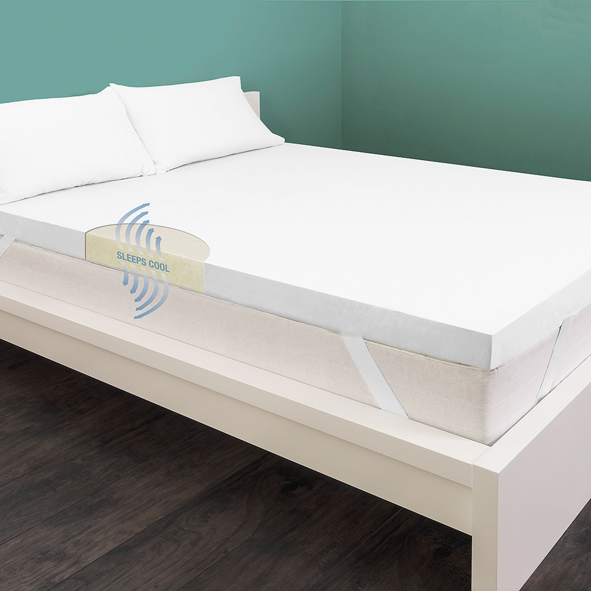 "HoMedics 3"" Cool Breeze Memory Support Mattress Topper"