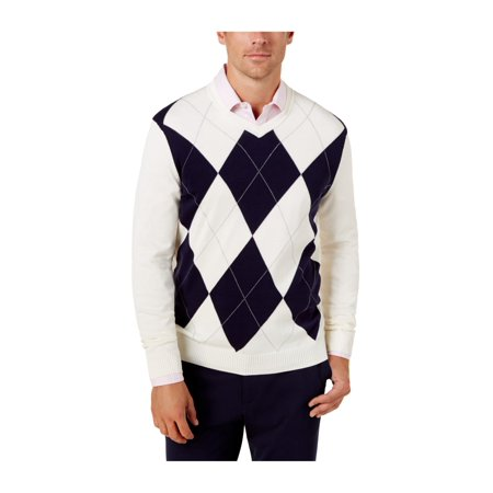 dccbf34f7a03 Club Room Mens Argyle Knit Pullover Sweater maraschino 3XL - image 1 of 1  ...