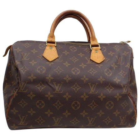 Speedy Monogram 30 Mm Boston 869624 Brown Coated Canvas Satchel