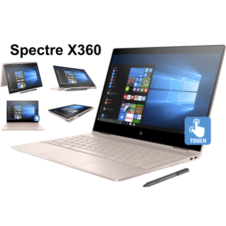 HP Spectre x360 13t Premium Ultra Light Convertible 2-in-1 Laptop/Tablet (Intel 8th gen Quad Core Processor, 16GB RAM, 256GB SSD, 13.3