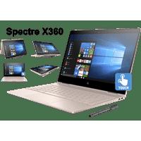 "HP Spectre x360 13t Premium Ultra Light Convertible 2-in-1 Laptop/Tablet (Intel 8th gen Quad Core Processor, 16GB RAM, 2TB SSD, 13.3"" FHD (1920x1080) Touch, Active Stylus Pen, Win 10 Pro) Rose Gold"
