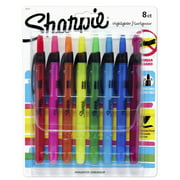 Sharpie Retractable Highlighters, Chisel Tip, Assorted Colors, 8 Count