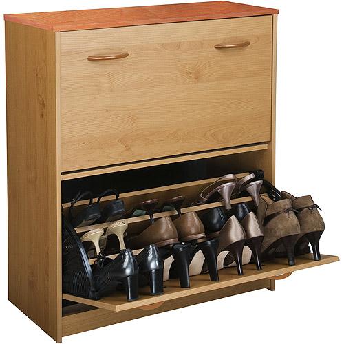 Shoe Cabinet, Double, Oak