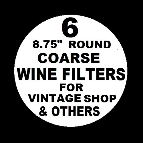"""6 WINE FILTER PADS COARSE 8.75"""" ROUND for , Vinamat and other plate, air pressure, and electric wine filter frames By Vintage Shop Ship from US"""