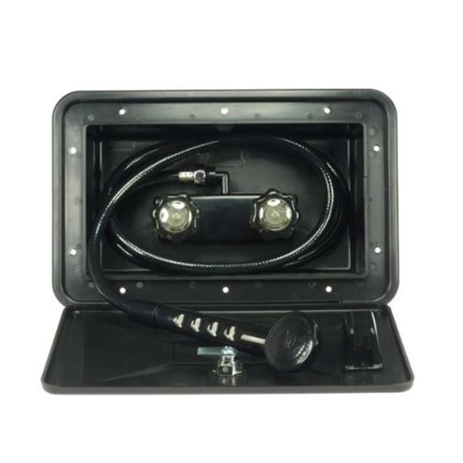 DFSA170BK RV Exterior Shower Box Kit In Black