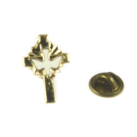 Christian Cross Lapel Pin Holy Spirit Dove Pin Tie Tack Religious - Cross Pins