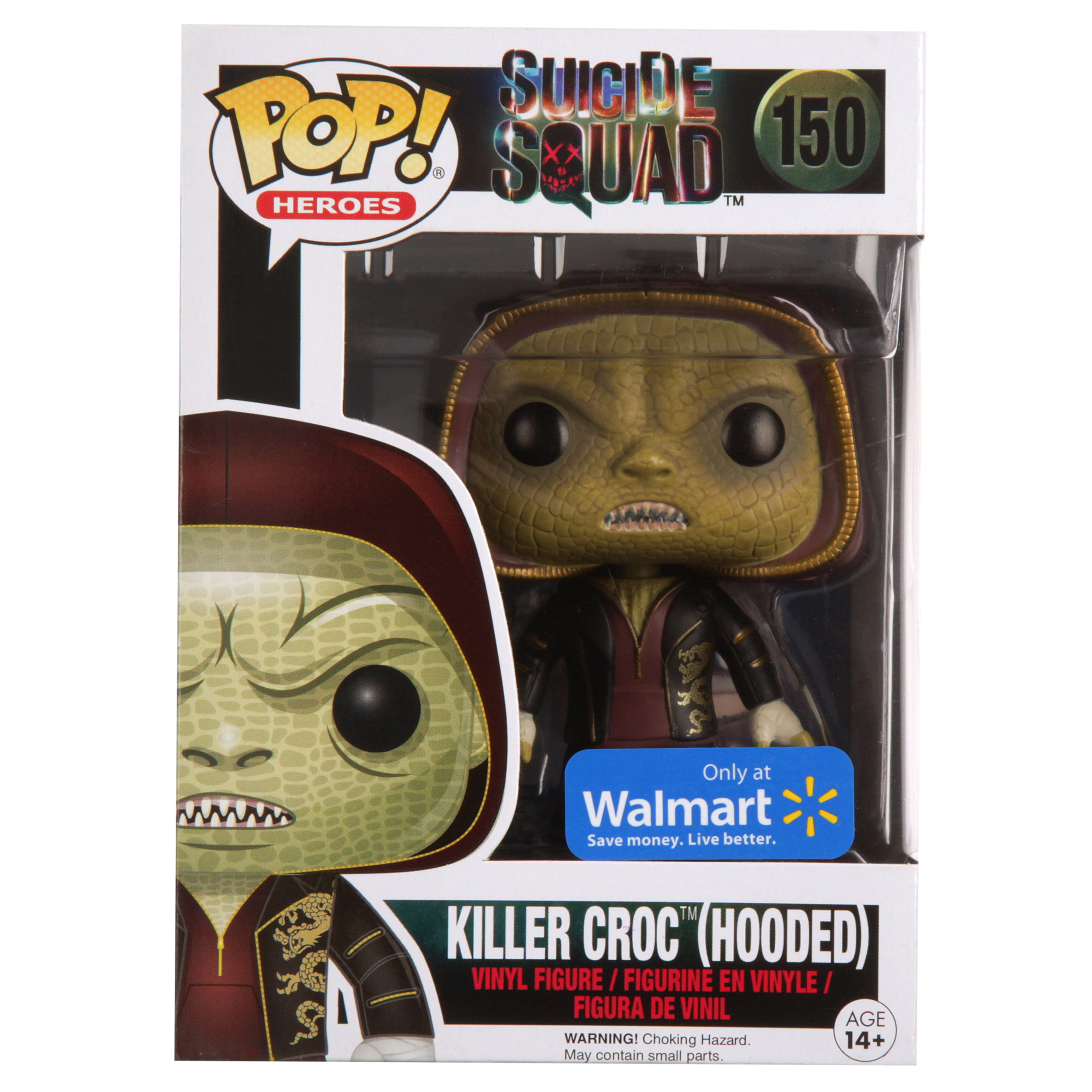 Funko POP #150 Wal-Mart Exclusive MOVIES: SUICIDE SQUAD ~ KILLER CROC Hooded