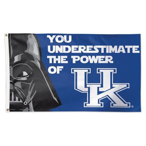Kentucky Wildcats Official NCAA 3'x5' Star Wars Darth Vader Banner Flag by Wincraft