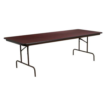 (Flash Furniture YT-3696 36 x 96 in. Rectangular Mahogany Laminate Folding Banquet Table)
