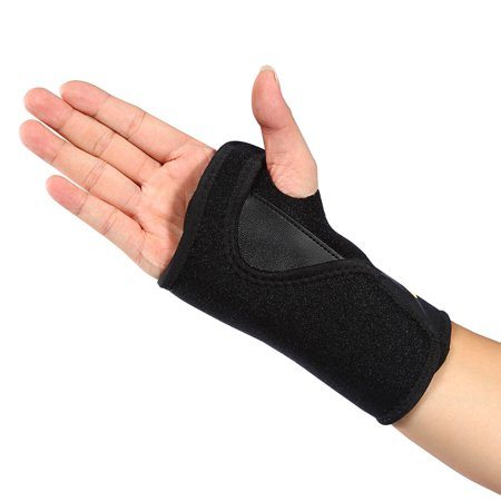 Universal Adjustable One Size Breathable Relief Carpal Tunnel Tendonitis Wrist Pain Sports Injuries Wrist Brace Support, Right Hand