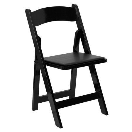 Flash Furniture Hercules Series Wood Folding Chair With Vinyl Padded Seat Multiple Colors