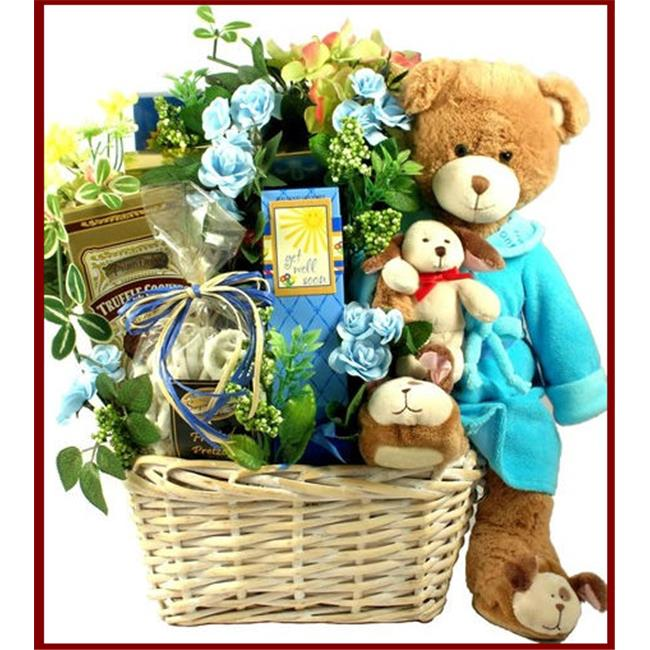 Gift Basket Village BoBaJa Beary Special Get Well Wishes Gift Basket with Bounce Back Jack