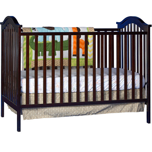Storkcraft Hampton 2-in-1 Fixed-Side Convertible Crib, Espresso
