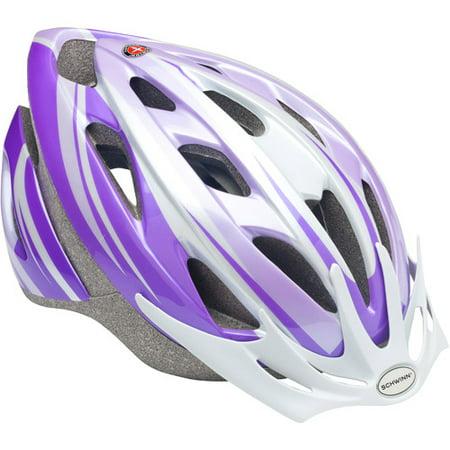 Schwinn Thrasher Girls Bicycle Helmet  Purple White  Youth