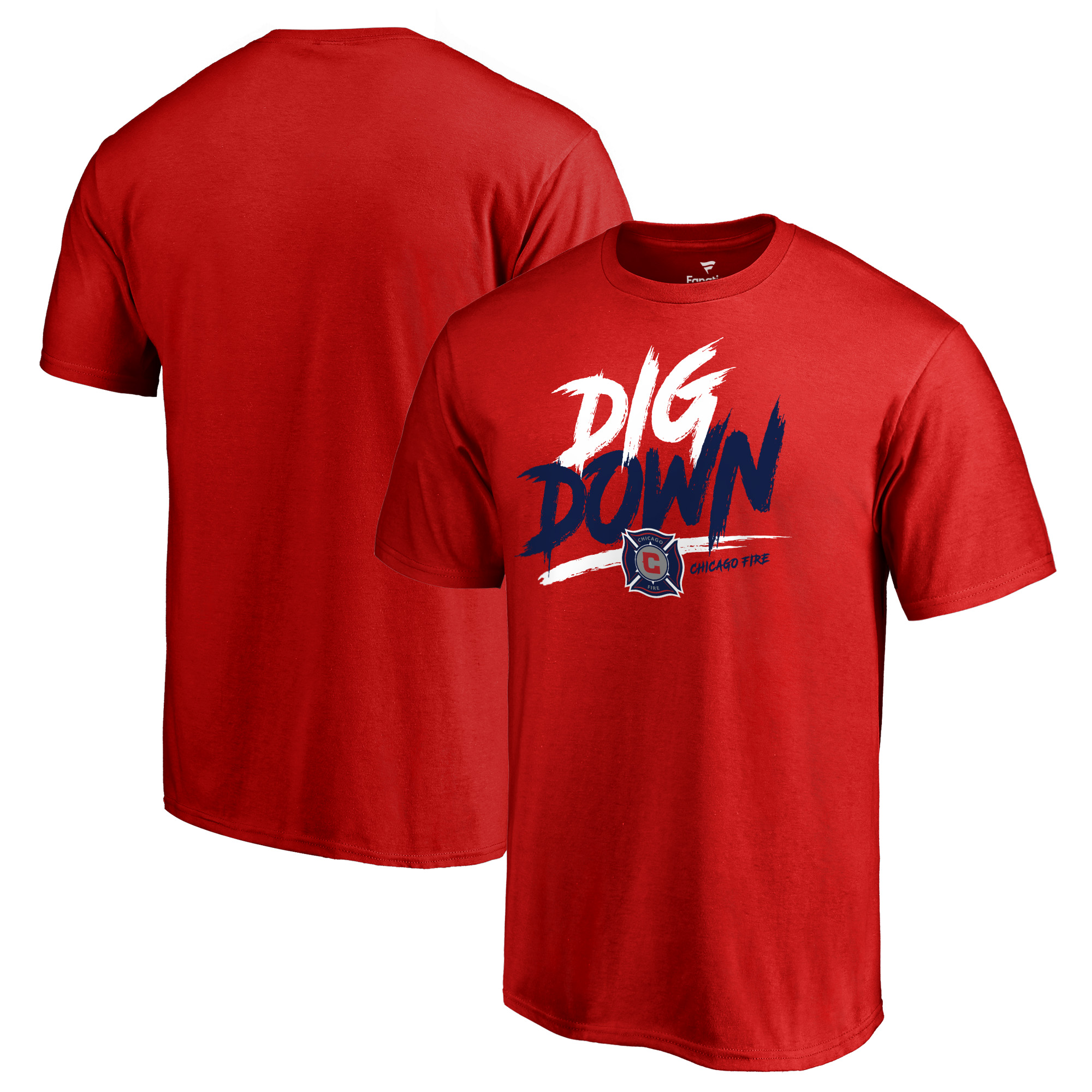 Chicago Fire Fanatics Branded Dig Down T-Shirt - Red