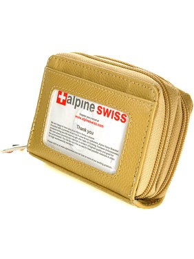 Product Image Alpine Swiss Womens Acordion Organizer Wallet Leather Credit Card Case Coin ID