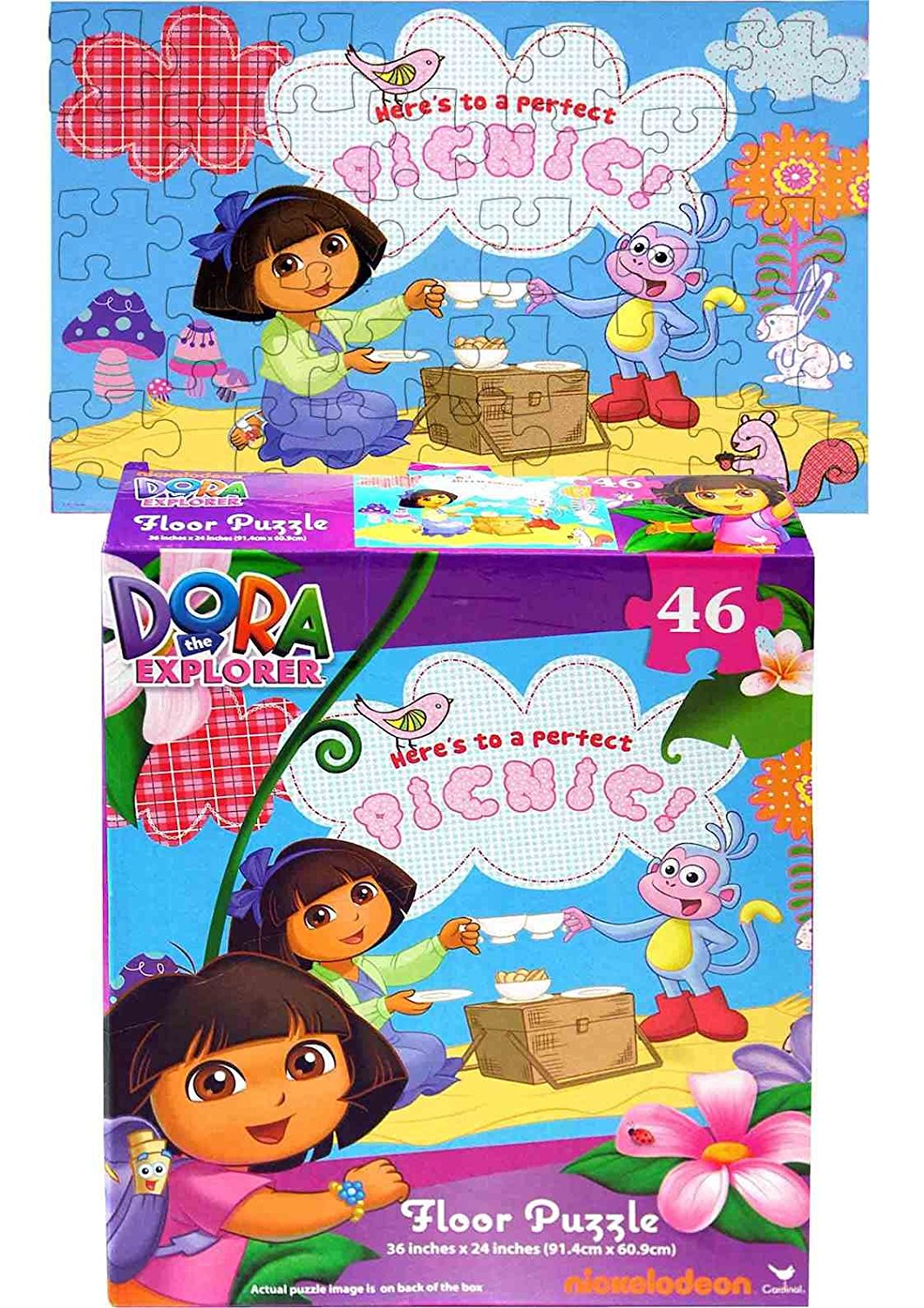 Dora Floor Puzzle, 46-Piece, Includes Dora the Explorer By Nickelodeon by
