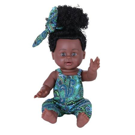 matoen Black Girl Dolls African American Play Dolls Lifelike 12 inch Baby Play Dolls (African American Barbie Doll Sale)