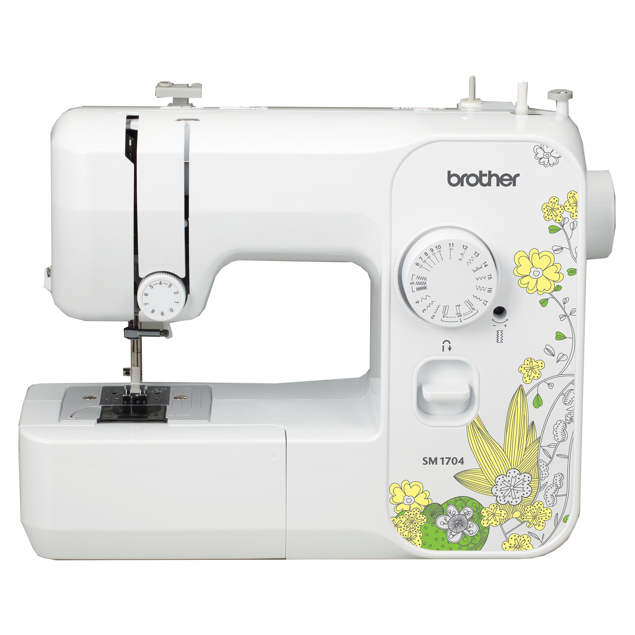 Brother SM1704 Lightweight, Full Size Sewing Machine With 17 Stitches and 4 Sewing Feet