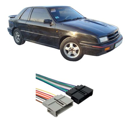 Dodge Shadow 1987-1995 Factory Stereo to Aftermarket Radio Harness Adapter Dodge Shadow Standard Vehicle